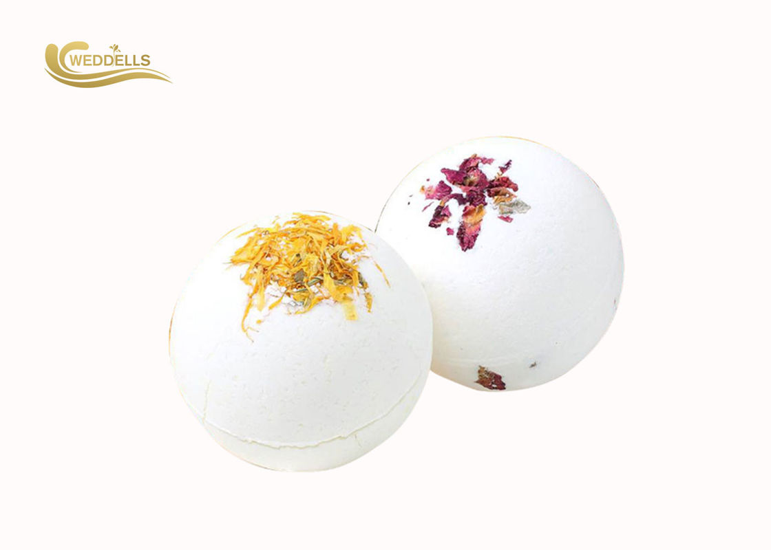 100g Dried Petal Bath Bomb , Packaging Gift Box Bath Bomb OEM Available