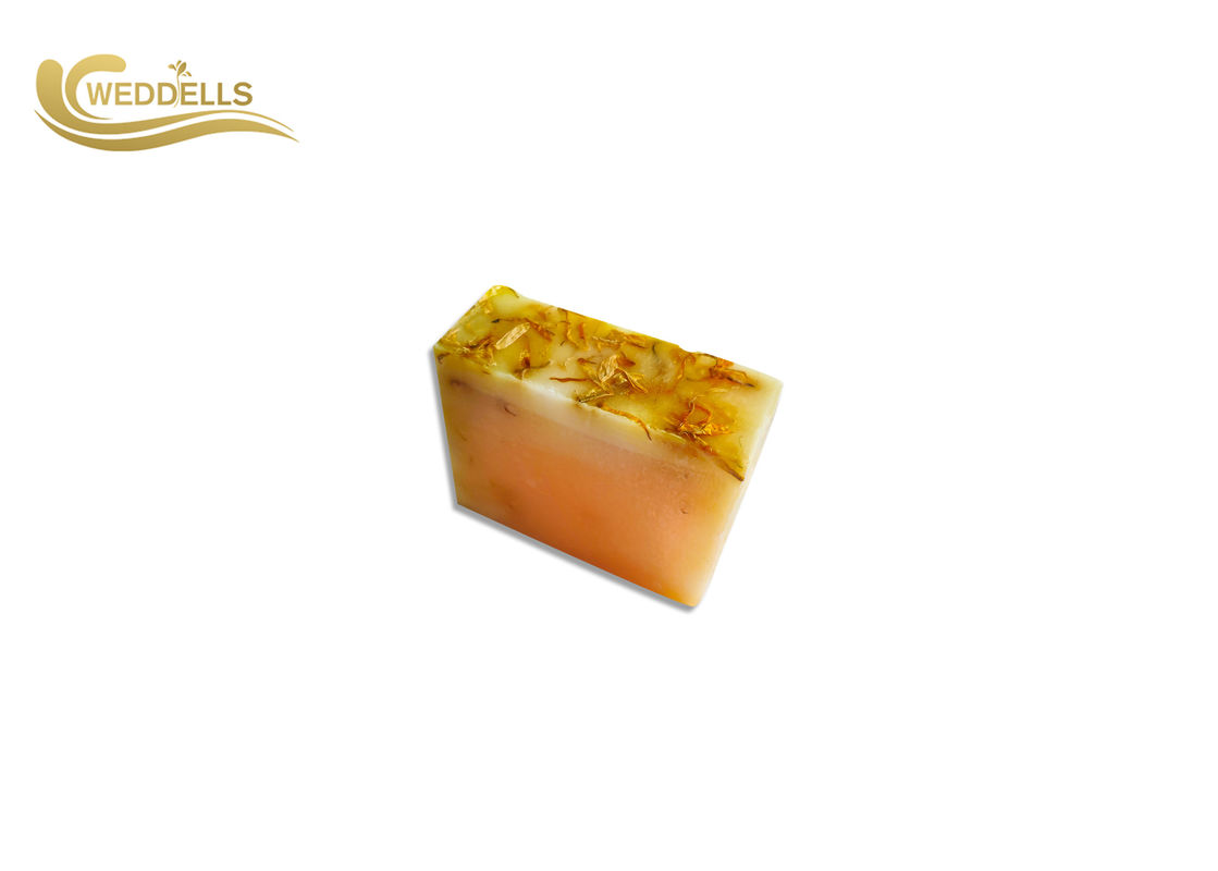 Facial Organic Handmade Soap Bar With Dried Flower On The Top Rose / Jasmine / Lavender Fragrance